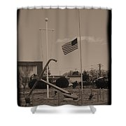 Half Mast D Shower Curtain