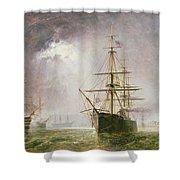 Half Mast High 19th Century Shower Curtain