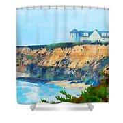 Half Moon Bay 2 Shower Curtain