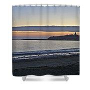 Half Moon Bay Sunset Shower Curtain
