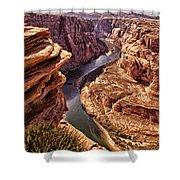 Half Of Horshoe Bend - Page Az Shower Curtain