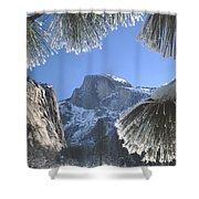 2m6757-halfdome In Winter Shower Curtain