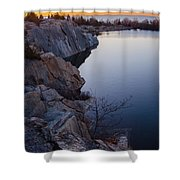 Halibut Point In Rockport Shower Curtain
