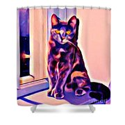 Halifax Cat Shower Curtain