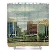 Halifax From The Harbour Shower Curtain by Jeff Kolker