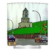 Halifax Historic Town Clock Graphic Shower Curtain