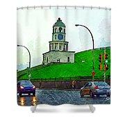 Halifax Historic Town Clock Shower Curtain