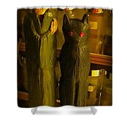 Halifax Kitchen Witch And Familiar Shower Curtain