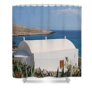 Halki Chapel Shower Curtain