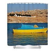 Halki Fishing Boat Shower Curtain