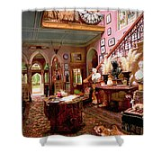 Hall And Staircase Of A Country House Shower Curtain