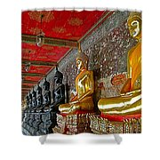 Hall Of Buddhas At Wat Suthat In Bangkok-thailand Shower Curtain