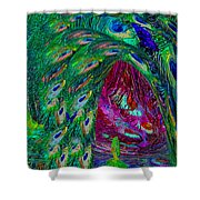 Hall Of Fairies Feather Dance Shower Curtain