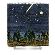 Halleys Comet 1682 Shower Curtain