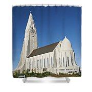 Hallgrimskirkja Church In Reykjavik Iceland Shower Curtain