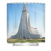 Hallgrimskirkja Church - Iceland Shower Curtain