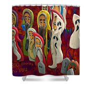 Halloween A Big Booo To You Shower Curtain