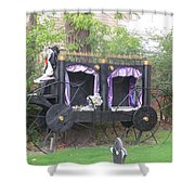 Halloween Carriage Shower Curtain