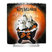 Halloween Ghost Cupcake 1 Shower Curtain