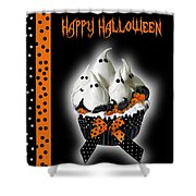Halloween Ghost Cupcake 3 Shower Curtain