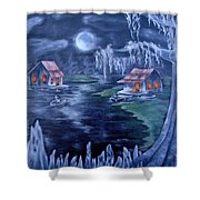 Halloween In The Swamp Shower Curtain
