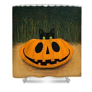 Halloween Kitty Shower Curtain