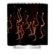 Halloween Light Creatures Shower Curtain
