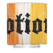 Halloween Potions Sign Shower Curtain by Linda Woods