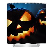 Halloween Pumpkins Closeup -  Jack O'lantern Shower Curtain