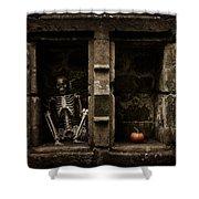 Halloween Skeleton Shower Curtain