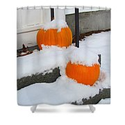Halloween Snow Shower Curtain