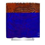 Halloween Specter Orange Shower Curtain