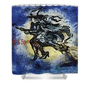 Halloween Stop For A Spell Shower Curtain