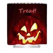 Halloween Trick Or Treat Shower Curtain