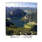 Hallstatt Lake Austria Shower Curtain