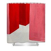 Hallway Red Shower Curtain