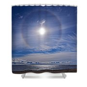 Halo Over  The Sea Shower Curtain