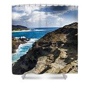 Halona Blowhole Lookout- Oahu Hawaii V2 Shower Curtain