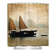 Halong Bay Vintage Shower Curtain