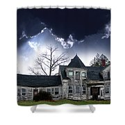 Haloween House Shower Curtain by Skip Willits