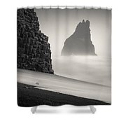 Halsenifs Hellir Sea Stack Shower Curtain
