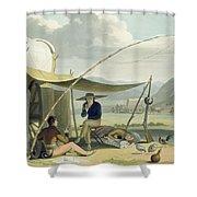 Halt Of A Boors Family, Plate 17 Shower Curtain