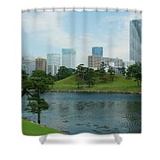 Hama Rikyu Japanese Garden Shower Curtain