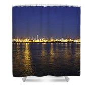 Hamburg Harbor Skyline Shower Curtain