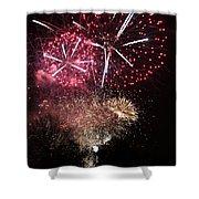 10715 Hamburg Winter Dom Fireworks Shower Curtain