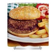 Hamburger & French Fries Shower Curtain