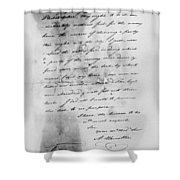 Hamilton: Letter, 1777 Shower Curtain