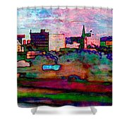 Hamilton Ohio City Art 10 Shower Curtain