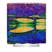 Hamilton Ohio City Art 6 Shower Curtain