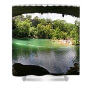 Hamilton Pool Cave Shower Curtain